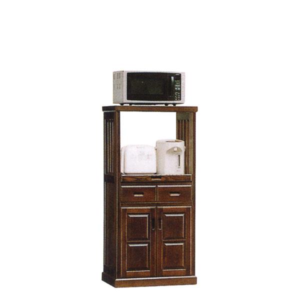 レンジ台 レンジボード 家電収納 キッチン収納 完成品 国産 日本製 ブラウン 幅60 送料無料