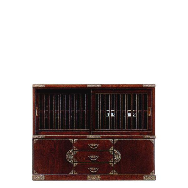 和風家具 食器棚 ダイニングボード モダン 食器収納 水屋 サイドボード 送料無料