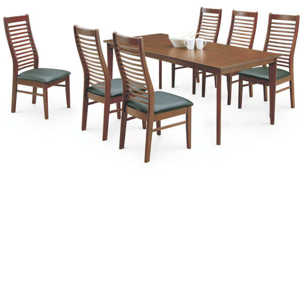 ダイニングテーブルセット 6人掛け テーブル幅180cm ダイニングテーブル x1 ダイニングチェア x6 食卓テーブルセット アウトレット価格並 送料無料  通販