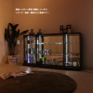 コレクションケース コレクションボード キュリオケース ディスプレイ コレクション収納 フィギュアケース 飾り棚 150幅 幅150cm ガラス棚 大2枚 小4枚 LEDライト付 アウトレット価格並  送料無料  通販