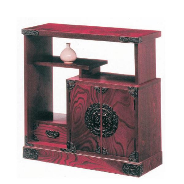 キャビネット リビング収納 リビングボード 茶棚 90幅 幅90cm 木製 日本製 完成品 和 和風 モダン カラー等 時代色 材質 ケヤキ突板 アウトレット価格並  送料無料
