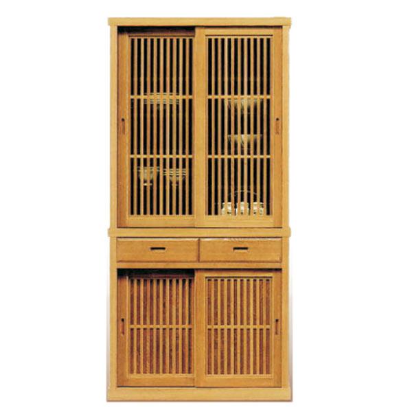 食器棚 ダイニングボード キッチンボード 90幅 幅90cm キッチン収納 カップボード 食器収納 ガラス扉 引出し うづくり仕上げ 日本製 和風