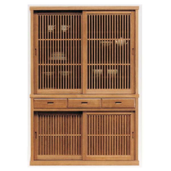 食器棚 ダイニングボード キッチンボード 130幅 幅130cm キッチン収納 カップボード 食器収納 ガラス扉 引出し うづくり仕上げ 日本製 和風