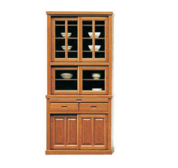 食器棚 ダイニングボード キッチンボード 90幅 幅90cm キッチン収納 カップボード 食器収納 ガラス扉 引出し 和風 シンプル モダン