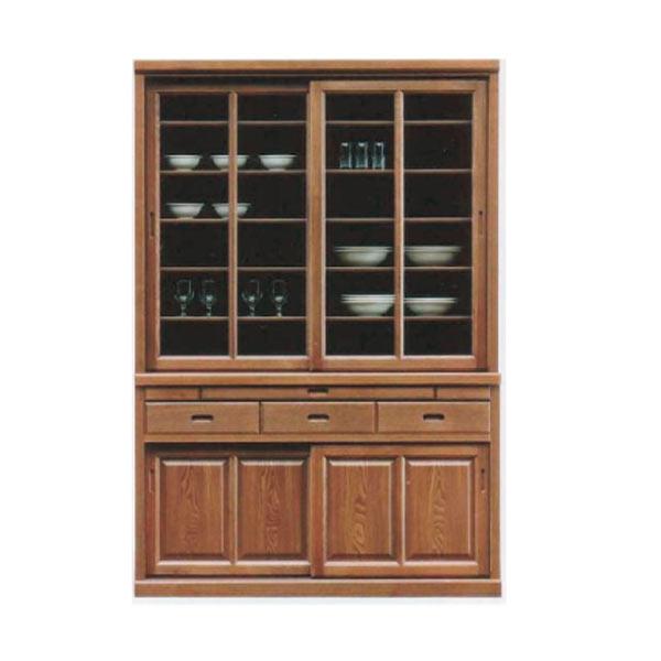 食器棚 ダイニングボード キッチンボード 135幅 幅135cm キッチン収納 カップボード 食器収納 ガラス扉 引出し 和風 シンプル モダン