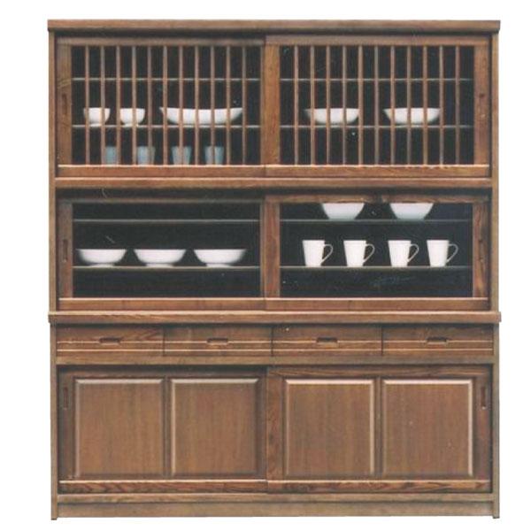 食器棚 ダイニングボード キッチンボード 170幅 幅170cm 高さ189cm キッチン収納 カップボード ガラス扉 引出し 箱組 日本製 和風 モダン 木製