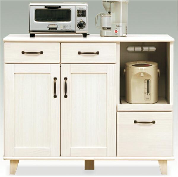キッチンカウンター キッチンボード 食器棚 レンジ台 レンジボード カウンター キッチン収納 105幅 幅105cm 引出し 箱組 脚付き 背面化粧仕上げ 日本製 北欧 日本製