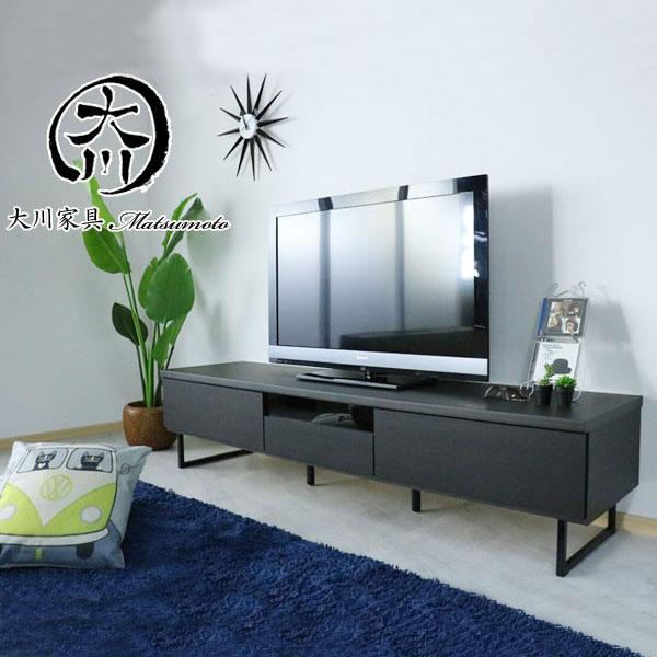 テレビ台 幅180cm テレビボード ブラック 黒色 日本製 完成品