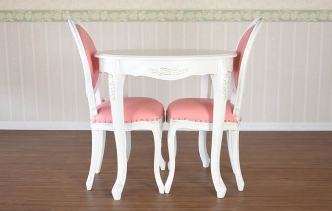 ダイニングセット ダイニングテーブルセット ロココ調 家具 テーブル チェア 椅子 プリンセス 幅80 2人用 カフェテーブル おしゃれ マホガニー マーキュリー