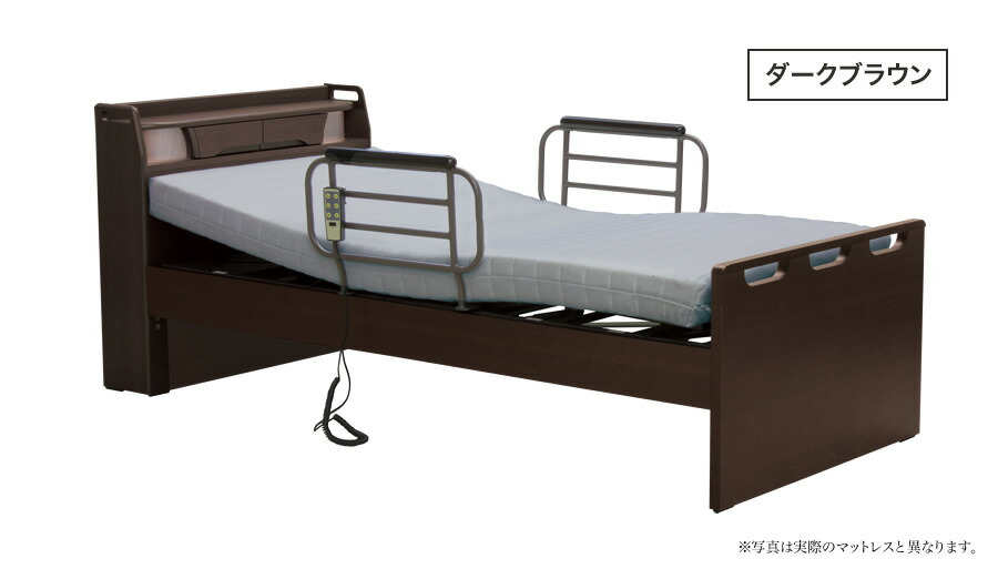 電動ベッド 介護ベッド シングル マットレス付き リクライニングベッド 非課税 1モーター 手すり付き 高さ調整 ウレタンマット 通気性 安全機能 介護施設 病院 自宅 ドゥース