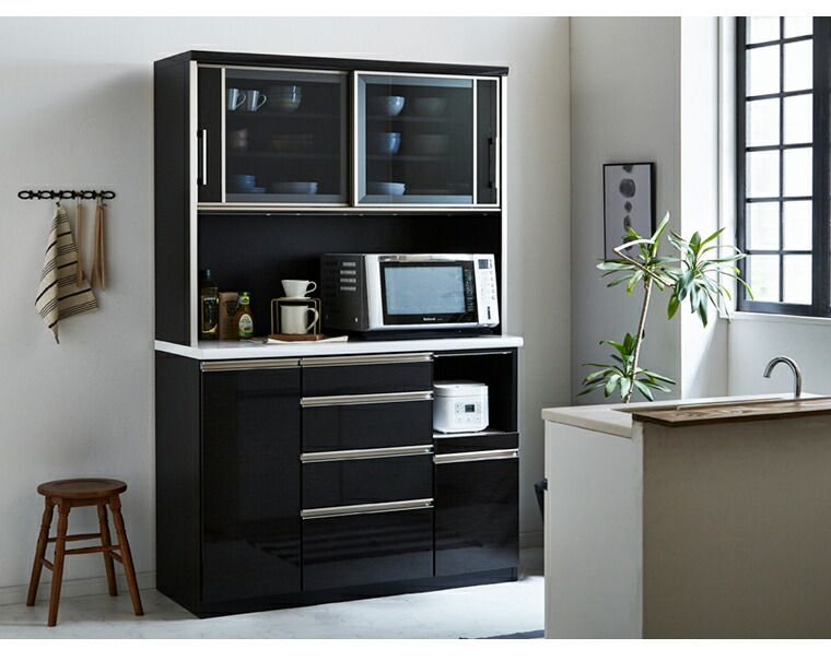 レンジボード オープンボード 食器棚 幅120 120cm キッチンボード カップボード 収納棚 新生活 キッチン収納 完成品 国産 開梱設置 シンプル