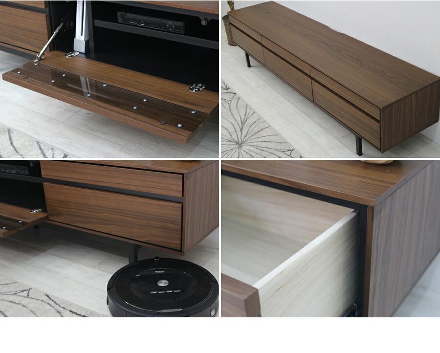テレビボード テレビ台 ローボード 150 グレー おしゃれ 木製 テレビラック 収納 収納家具 シンプル モダン TV台 アルバーノ