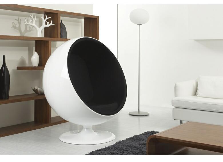 ボールチェア エーロ・アールニオ リプロダクト デザイナーズ パーソナルチェア 1人掛け ミッドセンチュリー 名作 有名 北欧 モダン カシミア ファブリック エーロ