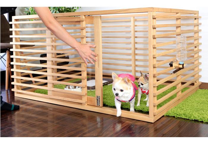 ケージ 小型犬 犬 犬用品 ゲート ペット 木製 天然木 ペット用品