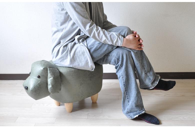 アニマルスツール スツール 動物 犬 置物 ビーグル オットマン サイドテーブル キッズルーム 子供部屋 玄関 座れる いす STOOL