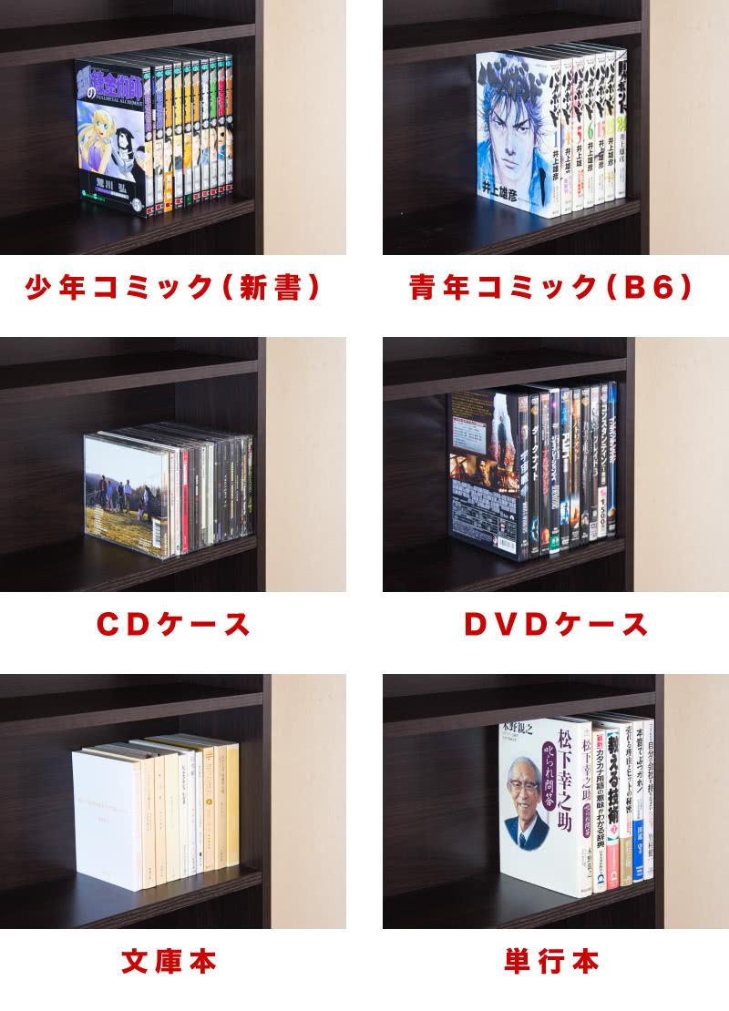 カラーボックス 本棚文庫本青年コミックCDDVD