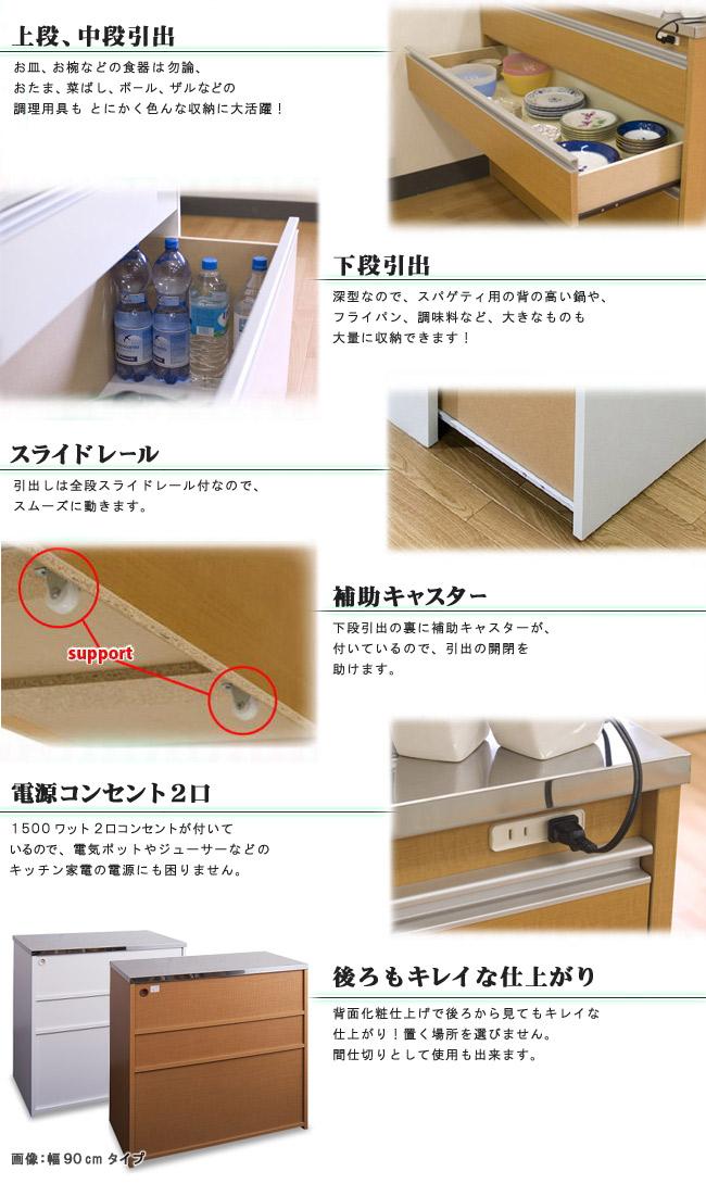 ステンレストップキッチンカウンター幅約120cm 詳細説明