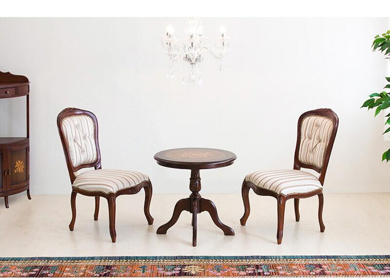 アンティーク 家具 クラシック 忠実に再現 ヨーロピアン 装飾 ラウンドテーブルセット