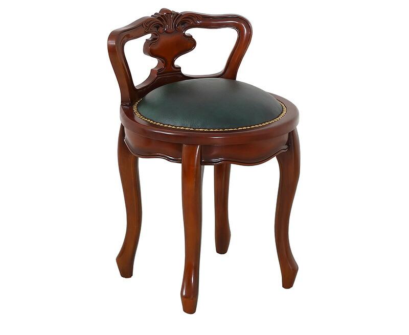 アンティーク風のチェア 丸椅子