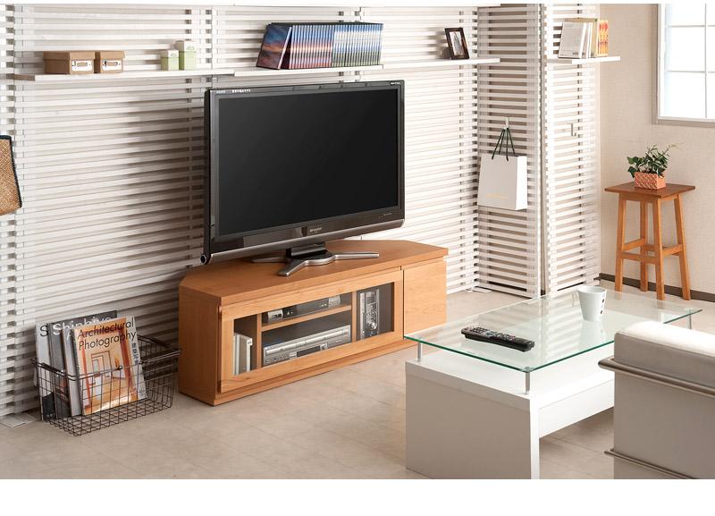 天然木アルダー材コーナーTV台W116 すぐ使える完成品 詳細説明