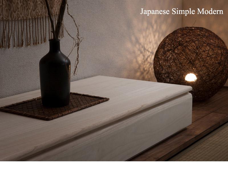 床の間に置きたい桐の置き床 生地仕上げ 商品説明画像