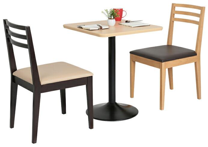カフェテーブル ブラックアイアン丸脚タイプ設置例