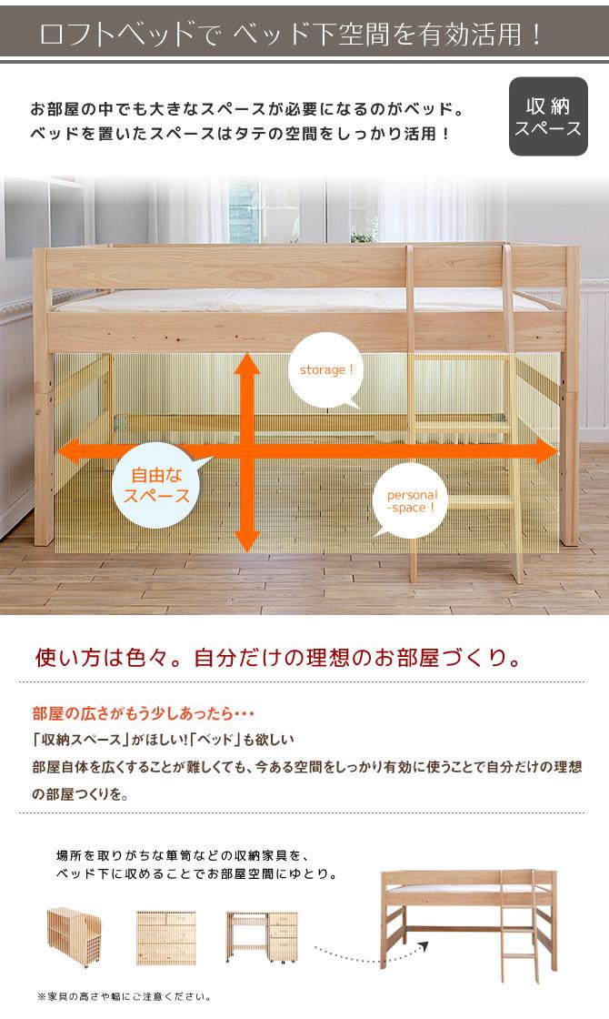 箪笥やキャビネットかさばる収納家具はベッド下に