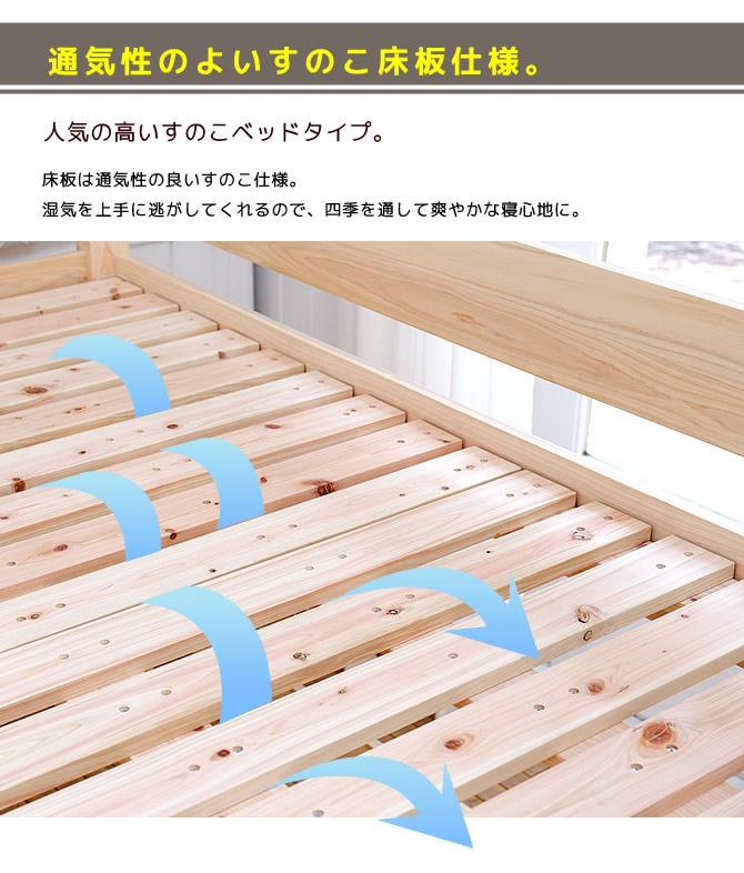 すのこも檜 通気性のよいスノコ床板