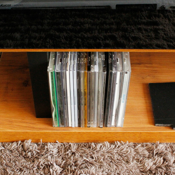 ローボードテレビ台 ネイツ 幅160cm 下段にはCDなどの小物を置くこともできます。。