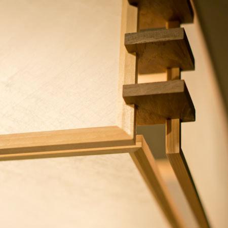 和紙部分は「ワーロン」を使用。破れにくく、耐久性の高いのも特徴です。