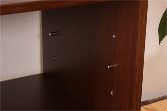 オープン部棚板は3段階高さ調節可能