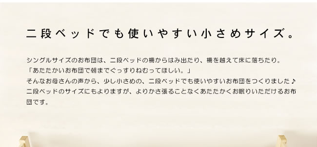 掛け布団_インビスタ社クォロフィル布団_ジュニアサイズ(カバー付き)_04