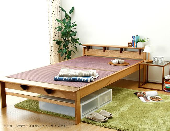 国産畳ベッド_オーク無垢材を使用した木製畳ベッド_01