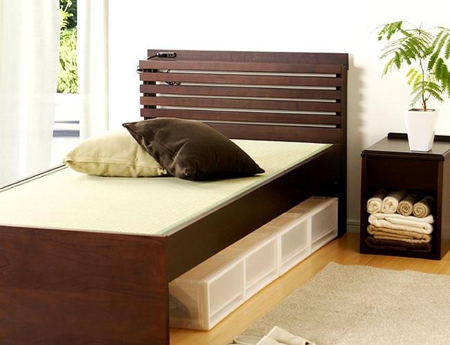 国産畳ベッド_落ち着いた雰囲気のモダン畳ベッド_01