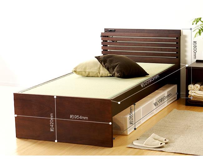国産畳ベッド_落ち着いた雰囲気のモダン畳ベッド_14