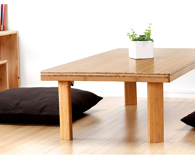 リビングテーブル_竹の木製座卓・ちゃぶ台120cm幅_02