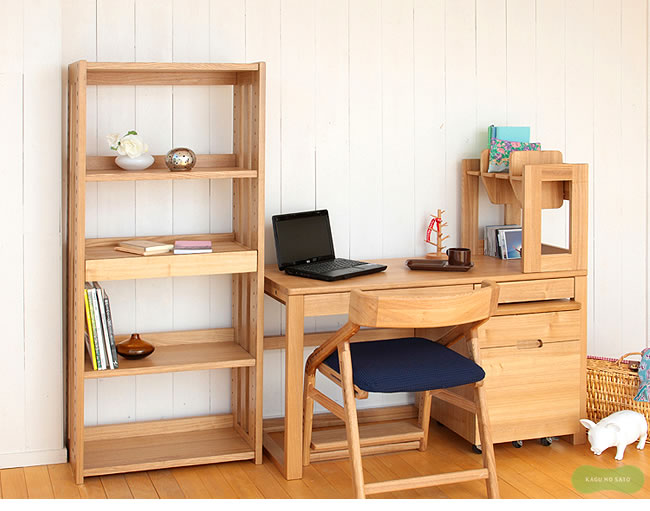 シェルフ_シンプルですっきりとした木製シェルフ・書棚・本棚_01