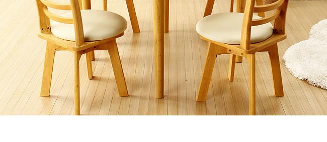 ダイニングセット_毎日の生活を明るくするコンパクト木製ダイニングテーブル_02