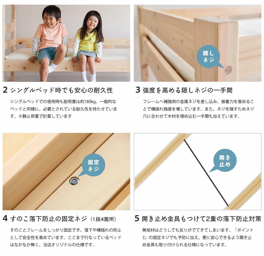 この二段ベッドの8つの安心ポイント(前半)
