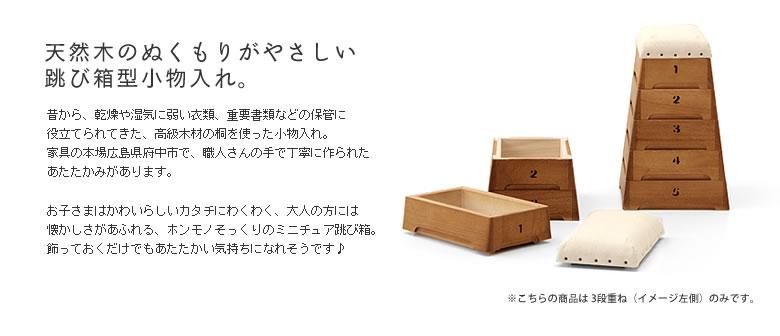 ミニ跳び箱・とび箱小物入れ(3段)02