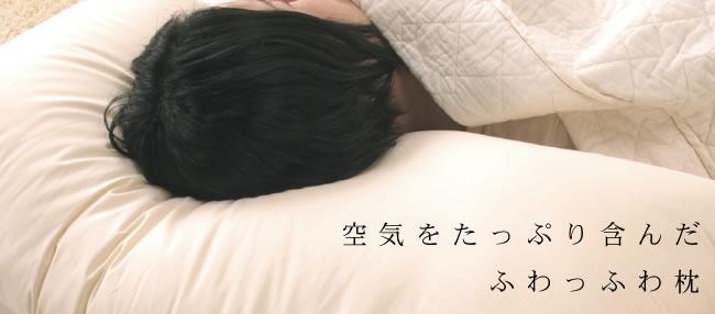 枕_丸洗いできるふわふわクォロフィル枕SD__01