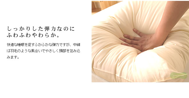 枕_丸洗いできるふわふわクォロフィル枕SD__05