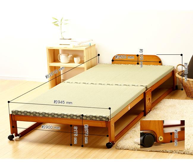 国産畳ベッド_畳の寝心地を楽しめる木製折りたたみベッド_14