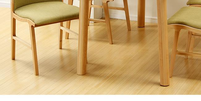 ダイニング_メープル材の質感が爽やかな木製ダイニングチェアー_布座_02
