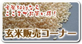 玄米販売コーナー