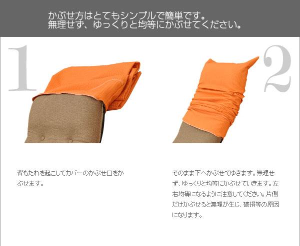 ITAWARI座椅子カバー:取り付け1、2