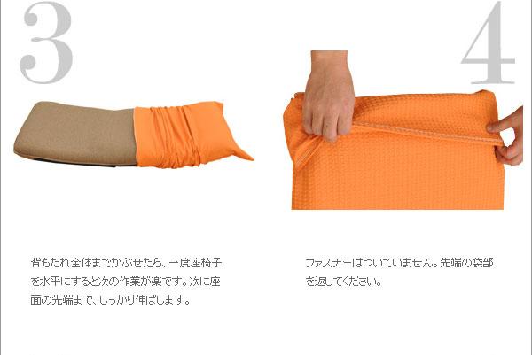 ITAWARI座椅子カバー:取り付け3、4