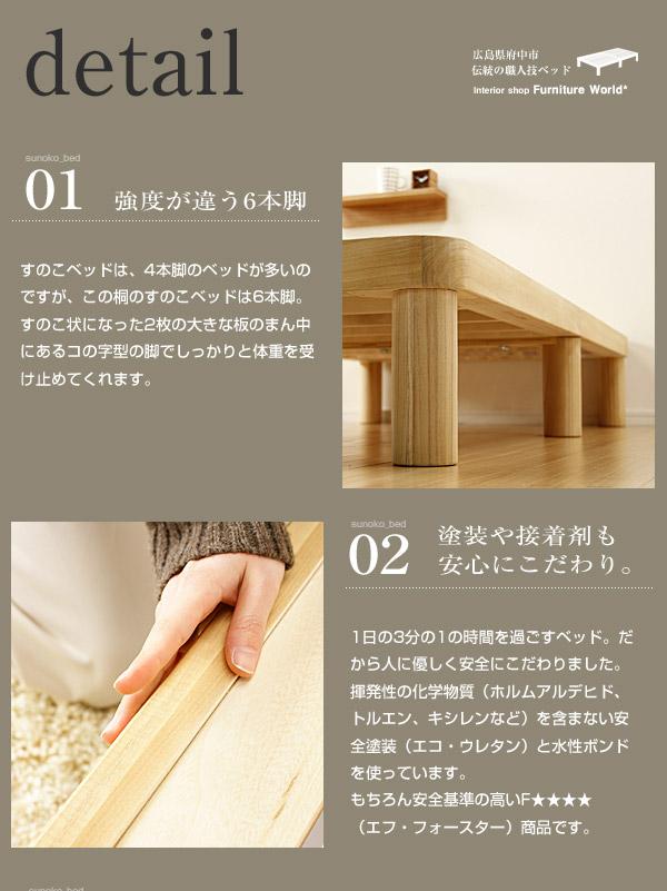 角丸すのこベッド|強度とエコ塗装