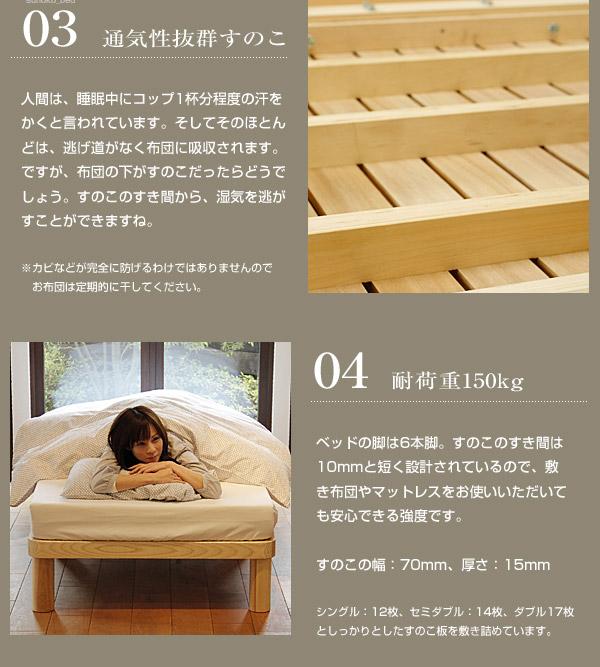 角丸すのこベッド|すのこと耐荷重