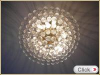 ボール状クリスタルシャンデリア4